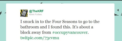 Occupy Tweet TheKRF