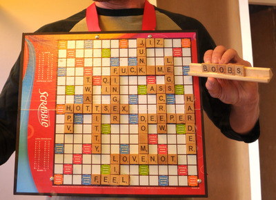 Ian Spiegelman's Slutty Scrabble Board