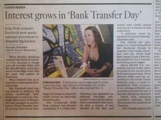 Bank Transfer Day: Ah, remember how it all began!