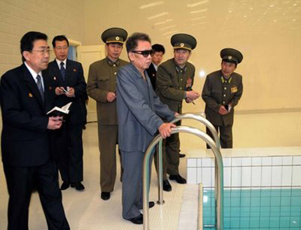 Kim Jong Il lands in the deep end