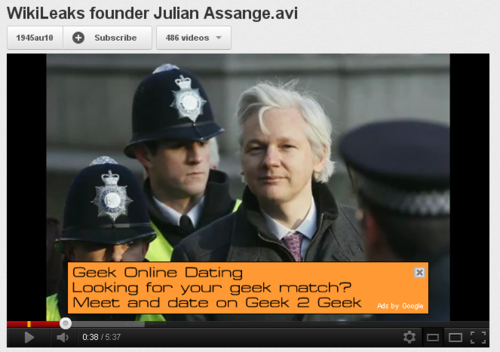 Geek Online Dating with Julian Assange