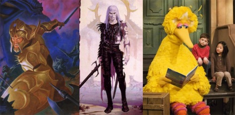 Big Bird: pictured left to right, same dude