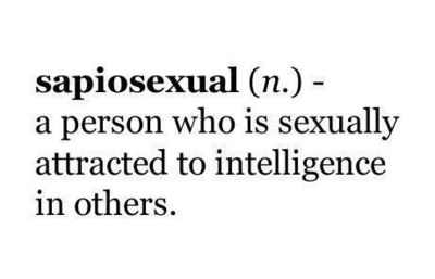 Word of the day Sapiosexual