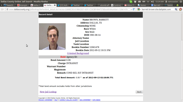 Barrett Brown Busted
