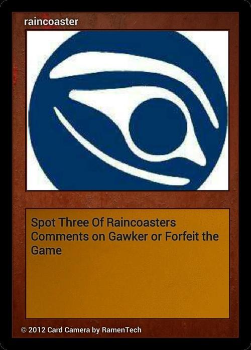 ninja raincoaster card