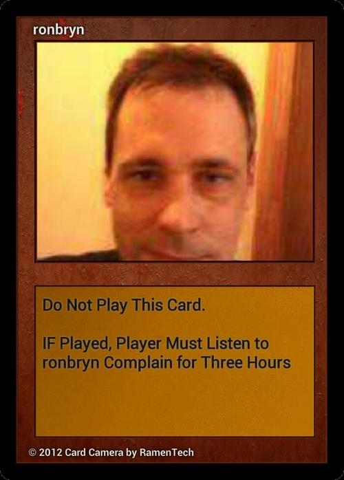 ron ninja card