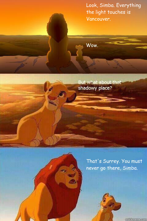 White Rock means never having to say you're Surrey, Simba