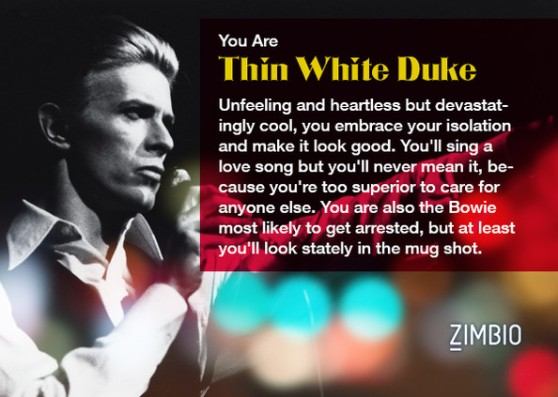 I am the Thin White Duke and you aren't