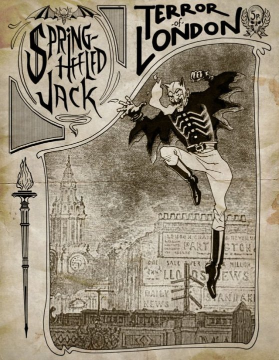 Spring Heeled Jack also apparently kitten heeled