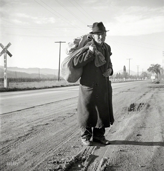 Veteran Hobo via Shorpy