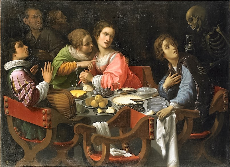 Death comes to the table, by Giovanni Martinelli