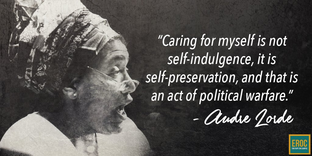 Audre Lorde on self-preservation