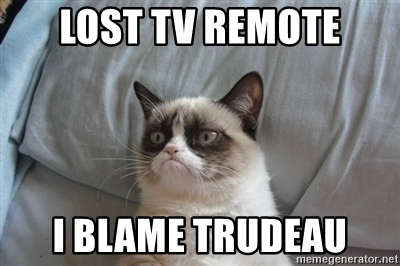 We all blame Trudeau