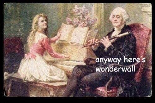 And Thomas Jefferson on bass guitar